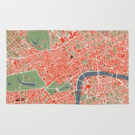 London city map classic Rug
