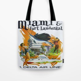 Vintage poster - Miami and Fort Lauderdale Tote Bag