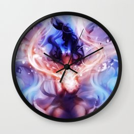 Eyes on Fire Wall Clock