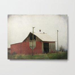 Vulture Barn Metal Print