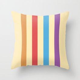 Vintage Stripes Vertical  Throw Pillow