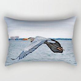 In Flight ~ Blue Heron Rectangular Pillow