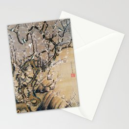 Ito Jakuchu - Birds And Plum Blossoms - Digital Remastered Edition Stationery Cards