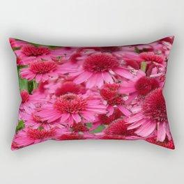 FUCHSIA PINK ECHINACEA GARDEN FLORAL Rectangular Pillow