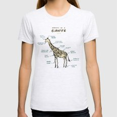 Anatomy of a Giraffe SMALL Ash Grey Womens Fitted Tee