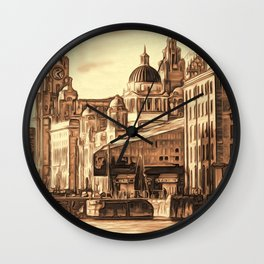 World famous Three Graces (Digital painting) Wall Clock