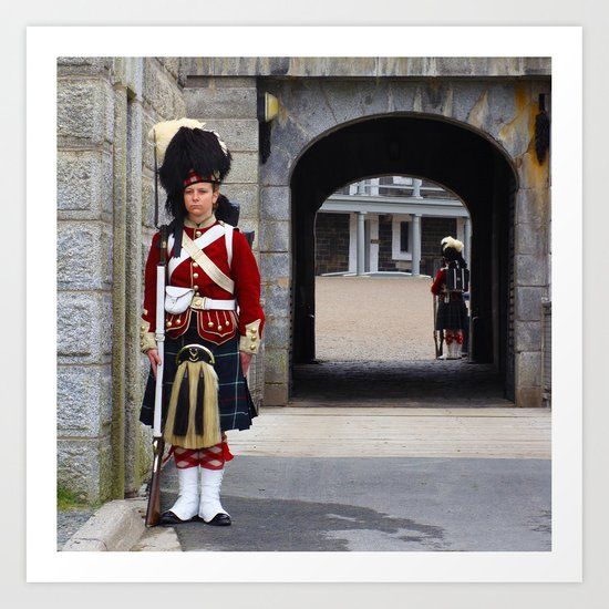 Guard of the Halifax Citadel Art Print