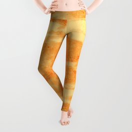 Light orange marble texture Leggings