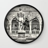 hercules Wall Clocks featuring Hercules' back by Roberto Pagani