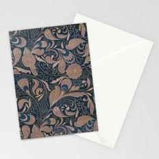 Carved Floral Pattern Stationery Cards