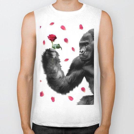 Gorilla In Love Biker Tank