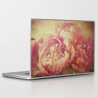 peonies Laptop & iPad Skins featuring Peonies by V. Sanderson / Chickens in the Trees