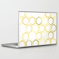 honeycomb Laptop & iPad Skins featuring Honeycomb by Thomas Knapp