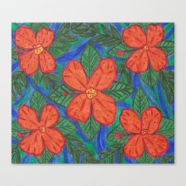 Luau Flower Print Canvas Print