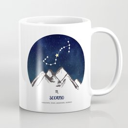 Astrology Scorpio Zodiac Horoscope Constellation Star Sign Watercolor Poster Wall Art Coffee Mug