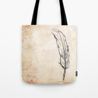 writing Tote Bags featuring Writing by Steve Perrson