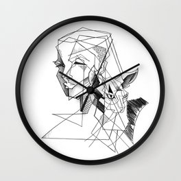cat and his girl Wall Clock