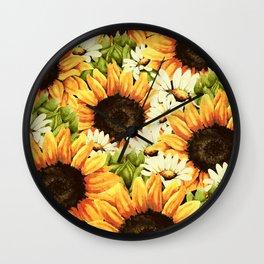Summer Garden (Sunflower Sunshine) Wall Clock