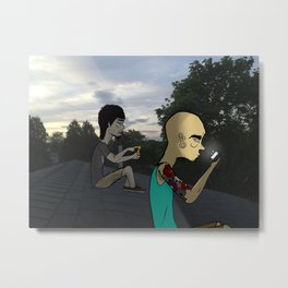 Get Off My Roof Metal Print