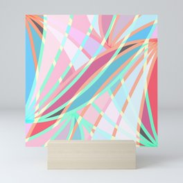 Girly Modern Abstract Geometric Pattern Mini Art Print