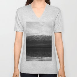 Black and White Reflections Unisex V-Neck