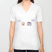 pun V-neck T-shirts featuring Toaster Pun by Tom Cronin