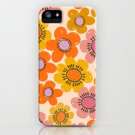 Flower Power Painted Flowers iPhone Case