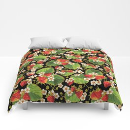 Strawberries Botanical Comforters
