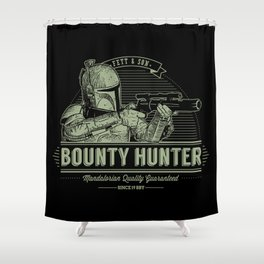 Galactic Bounty Hunter Shower Curtain