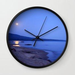 Moon Shimmering on Superior Wall Clock