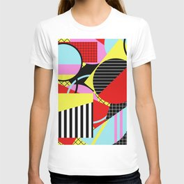 Retro Geometry - Geometric, abstract, bold design T-shirt