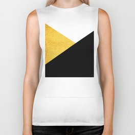 Gold & Black Geometry Biker Tank
