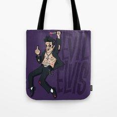Evil Elvis Tote Bag