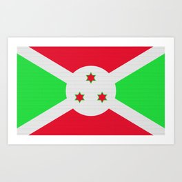 Burundi Flag (Patchwork Look) Art Print