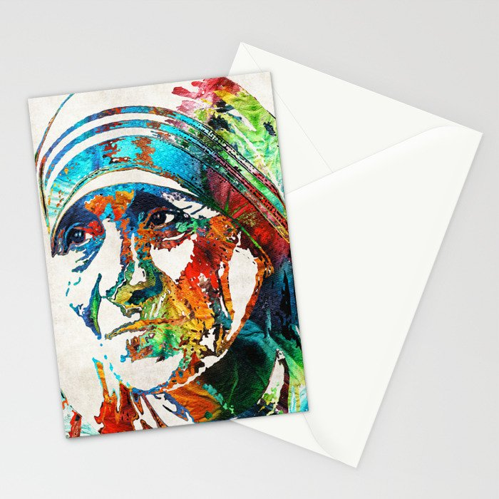 Mother Teresa Tribute by Sharon Cummings Stationery Cards