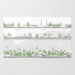 Living comunity blueprints Rug