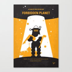 No415 My Forbidden Planet minimal movie poster Canvas Print