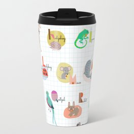 The Animal ABC , alphabet Travel Mug