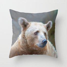 Bear Necessities      (digital painting) Throw Pillow