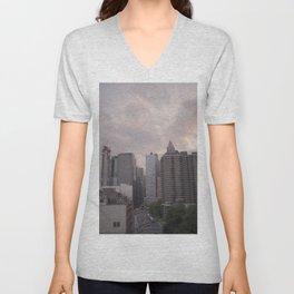 New York on Kodak Portra 400 Unisex V-Neck
