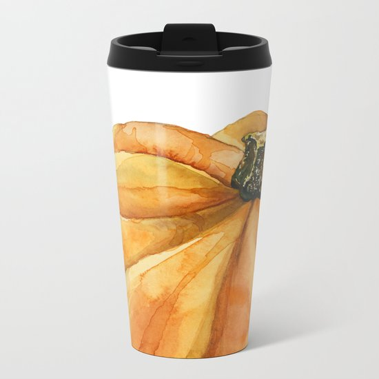 Pumpkin Metal Travel Mug