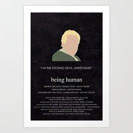 Being Human - Captain Hatch Art Print