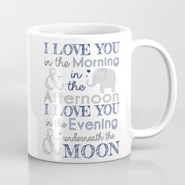 Elephant nursery print Coffee Mug