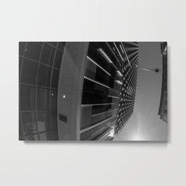 Skyscraper Sidewinder Black and White Metal Print