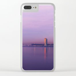 Liverpool Port Night Lights Sunset Panorama United Kingdom Clear iPhone Case