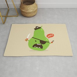 Pear-ate a.k.a The Angry Pirate Rug