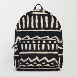 African Vintage Mali Mud Cloth Print Backpack