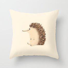 Happy Hedgehog Sketch Throw Pillow