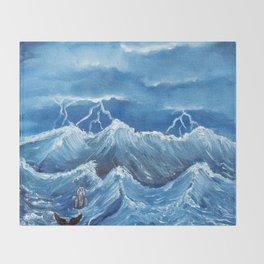 Swim the storm Throw Blanket