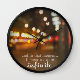 perks of being a wallflower - we were infinite Wall Clock